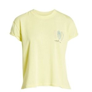 NWT Free People Wipe Out Graphic Tee - Lime - S